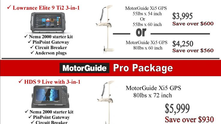 New Lowrance and MotorGuide Packages