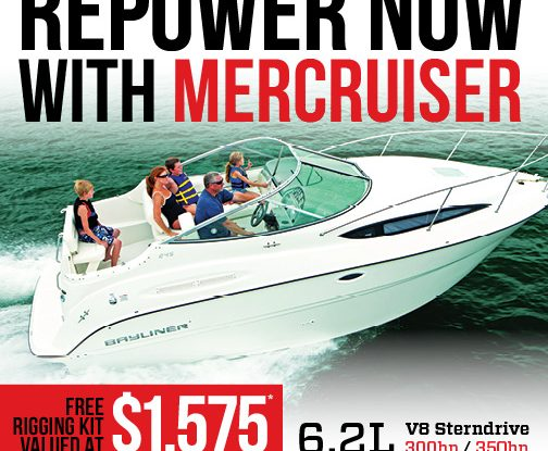 Free rigging kit with new Mercruiser